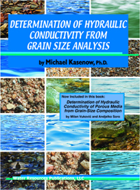 DETERMINATION OF HYDRAULIC CONDUCTIVITY FROM GRAIN SIZE ANALYSIS Book image